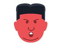 Kim Jon Un Sticker Pack for Telegram