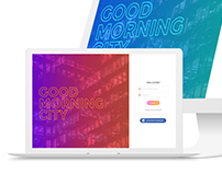 Login page Good Morning City