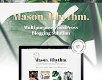 Mason. Rhythm. WordPress Blog Theme