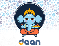 Religious donation app design concept