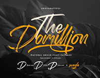 FREE | The Domillion Brush Font