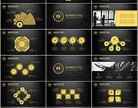 4in1+ glod infographics PowerPoint Template