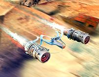 Race starship - Blender