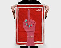 Poster film design. Ella también.