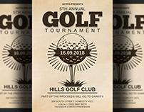 Golf Tournament Flyer Template