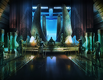 Stargate Goa'Uld Hattak Throne Room Remake