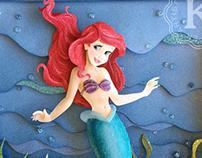 Princess Ariel paper sculpture