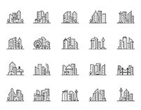 20 Cityscape Vector Icons