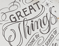 Hand Lettering / Great Things