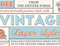 FREE Quick Vintage Layer Styles