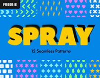 Free Download: Spray Seamless Patterns
