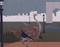 Ostrich in Paris