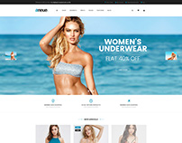 Shopify theme & Magento theme design for swimwear store
