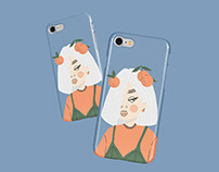 illustrated phone cases