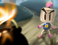 Baby Louie and White Bomberman