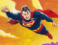 Superman. Painting.