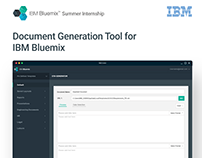 IBM Bluemix - Summer Internship