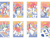 Humming Bird Honey Riso Prints