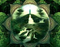 Digital Mandala Triptych