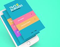 Tim's Burgers | App Design