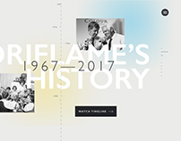 Oriflame 50th anniversary web site