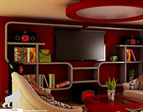 Retro Living Interior