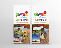 Active Holiday Company - Roll up Banner Design