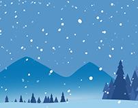 Snowy Winter Background
