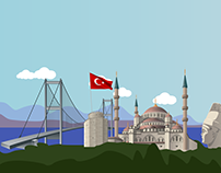 TURKEY INFOGRAPHIC | VECTOR ILLUSTRATION
