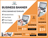 Business Banner- HTML5 Banner Ad Templates