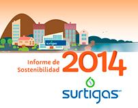 Surtigas. Diseño de Informe de Sostenibilidad 2014