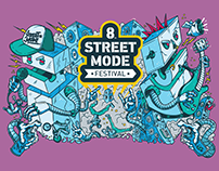 8th Street Mode Festival Identity (2016)