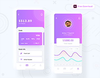 Financial app design - Freebie