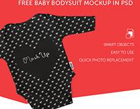 FREE BABY BODYSUIT MOCKUP IN PSD