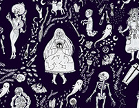 Witchy Clip Art and Pattern Collection