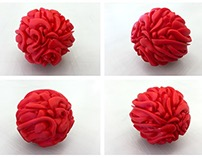 3D Printed ball of Tangled Graffiti.