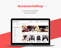 Accessories shop/E-commerce template/Web design/UI/UX