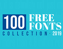 100+ Best Free Fonts for 2019