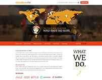 Donation NGO Website Layout