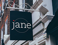 """Jane"" Logo, Menu and Package Design"