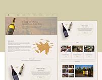 """Azerbaijan's wines""web design"