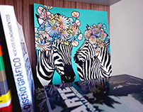 Zebra Bouquet
