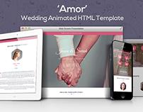 Amor - Parallax Animated Wedding HTML Template