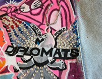 PINK PANTHER PAINTED DENIM JACKET