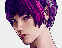 FEMALE BUST - Speed Painting