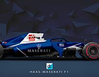 Haas Maserati F1 Concept Liveries 2018