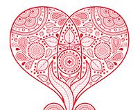 Indian+Swiss Wedding Invitation