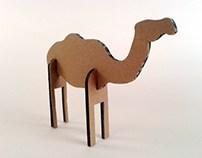Zabawki z kartonu - Wielbłąd / Cardboard toys -  Camel