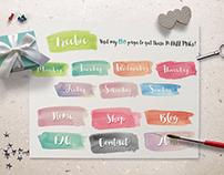 Hand-painted Watercolor Labels + FREEBIE