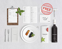 Free Restaurant Branding Mock Up